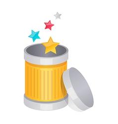 icon trash can vector image