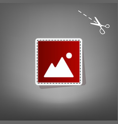 image sign red icon with for vector image