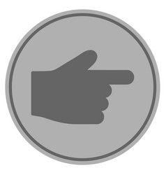 index finger silver coin vector image