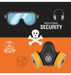 Industrial security equipment vector image