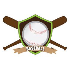 isolated baseball emblem vector image