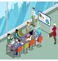 Isometric Conference Room Business Presentation vector