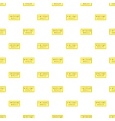 Label high quality pattern cartoon style vector