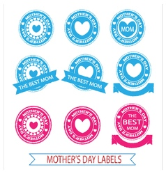 Labels mothers day vector