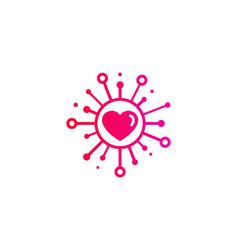Love share logo icon design vector
