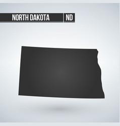 Map us state north dakota vector