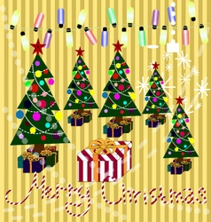 Merry Christmas 01 vector image