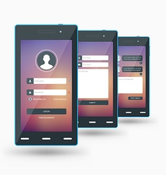 Modern smartphone Flat design template for mobile vector