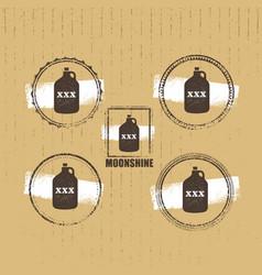 Moonshine jug pure original corn spirit creative vector