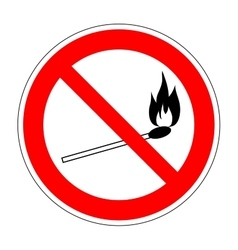 No fire match sign 2006 vector image