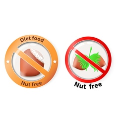 Nut free vector
