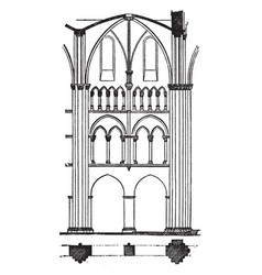 One bay of limburg cathedral cathedral vector