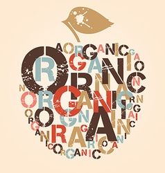 Organic apple vector
