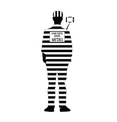 prisoner with selfie vector image