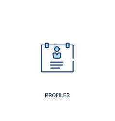 Profiles concept 2 colored icon simple line vector