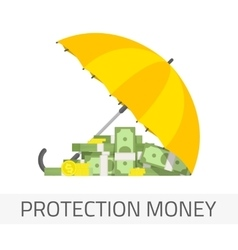Protection money concept vector image
