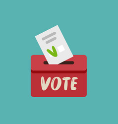 Putting voting paper in ballot box vote vector