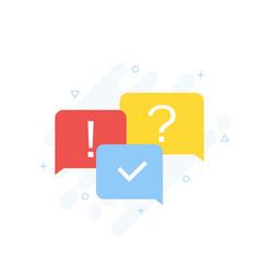 quiz concept quiz online vector image