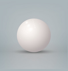 Realistic 3d glossy white sphere isolated vector