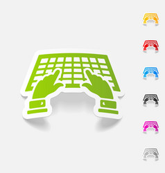 Realistic design element using the keyboard vector