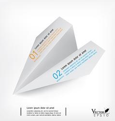 Rocket paper design template infographic Eps10 vector
