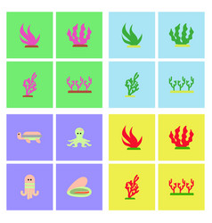 Seabed stock collection vector