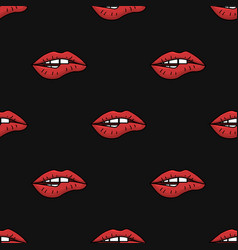 seamless pattern with womens lips vector image