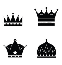 Set of crown icon vector