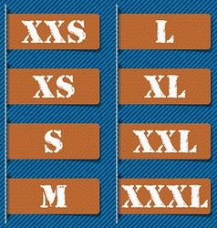 Size clothing labels - vector image