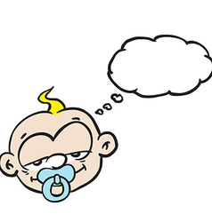 sleepy baby with thought bubble vector image