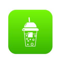 soda icon green vector image