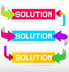 Solution Colorful Stickers - Labels Set with vector image
