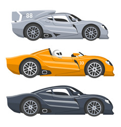 sport race car speed automobile and offroad vector image
