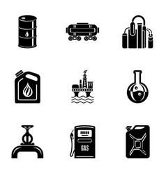 Storage depot icons set simple style vector