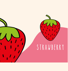 strawberries fruit tropical fresh natural on vector image