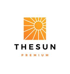sun logo icon vector image