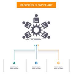 team group leadership business teamwork business vector image