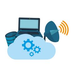 Technology computing support cartoon vector