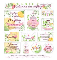 Wedding design invitation menu card poster vector