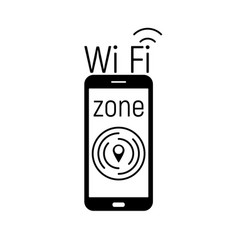 wi-fi zone image vector image