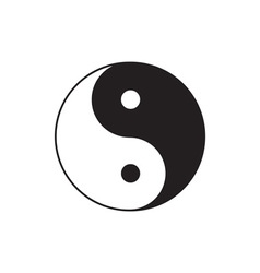 Yin Yang sign icon Feng shui symbol White and vector
