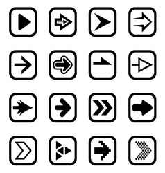 Arrow icons1 vector image vector image