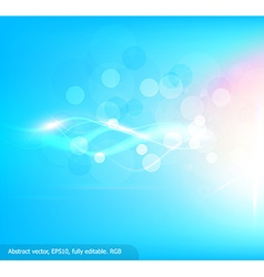 Bright Blue Background with Curved White Lines vector image vector image