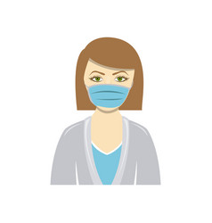 color people doctor icon image vector image