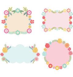 Frame with Floral set vector image