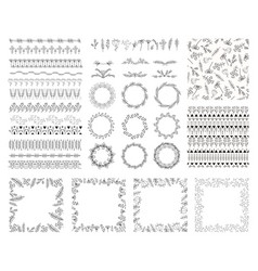 hand drawn floral set for your design collection vector image
