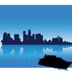Los Angeles skyline vector image vector image