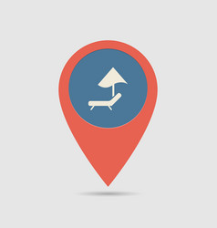 map pin beach vector image