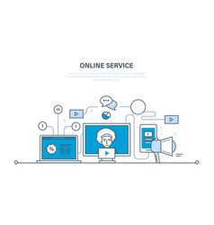 modern technology communications online services vector image vector image