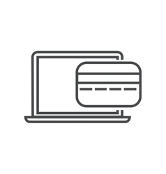 Modern thin line icon on white vector